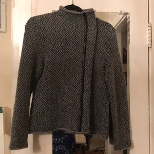 Eileen Fisher Petite Bouche Sweater/ Faux Leather